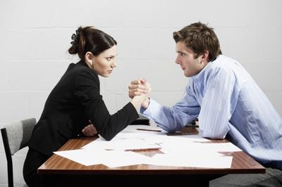 twopeople negotiating